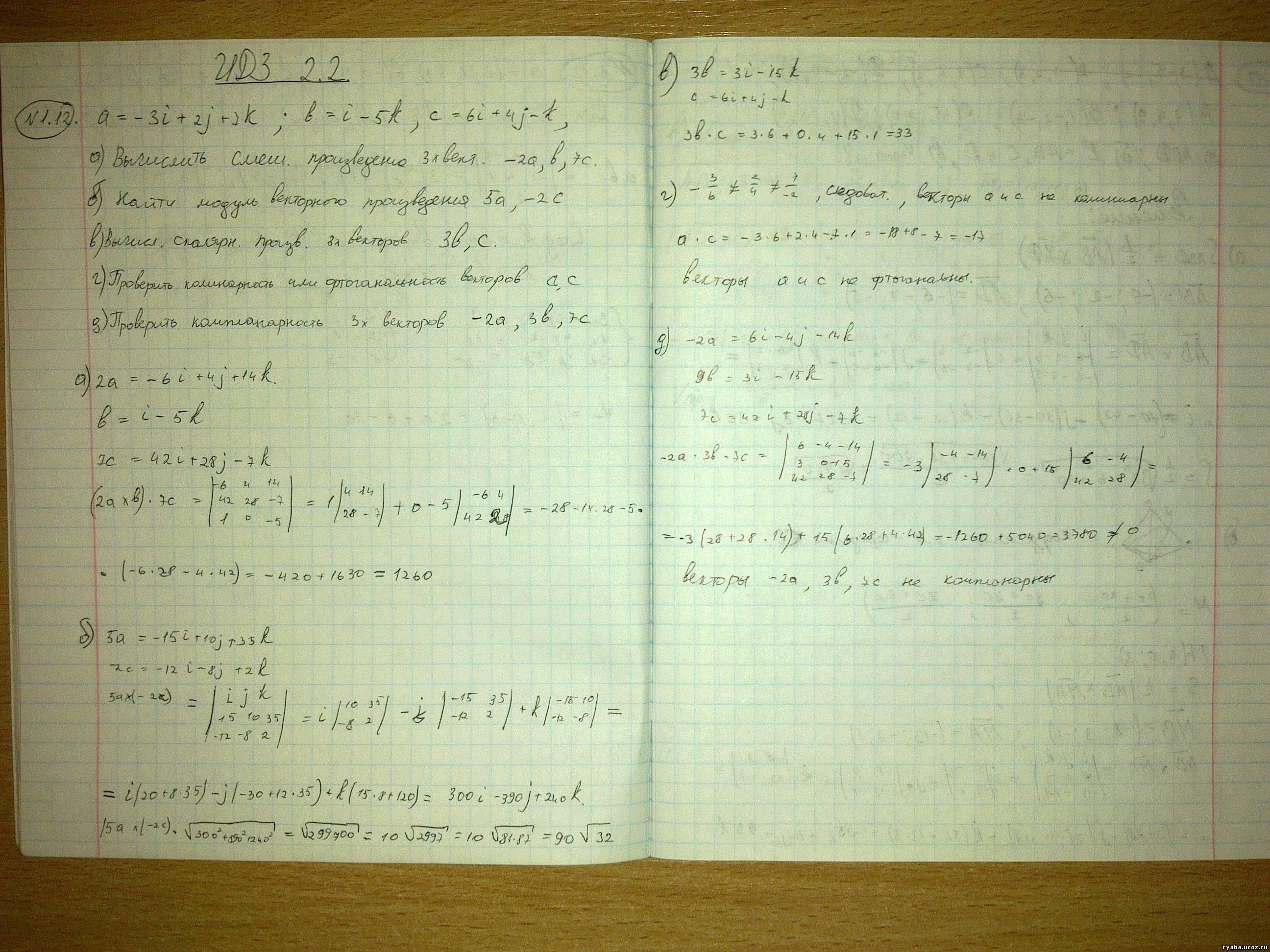 Решебник рябушко 2.2 идз